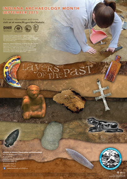 2015 Indiana Archaeology Month Poster